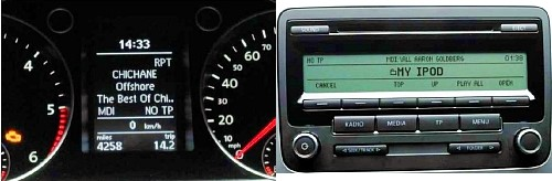 Affichage simultané autoradio 310/510
