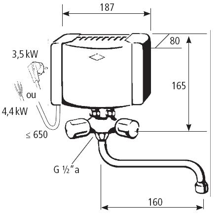 dimensions chauffe-eau m4/smb