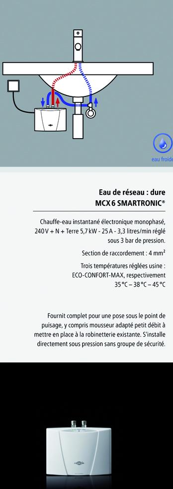installation chauffe-eau instantané clage MCX6