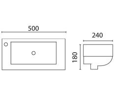 Lavabo vasque suspendu LT303G