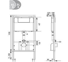dimensions Réservoir encastré