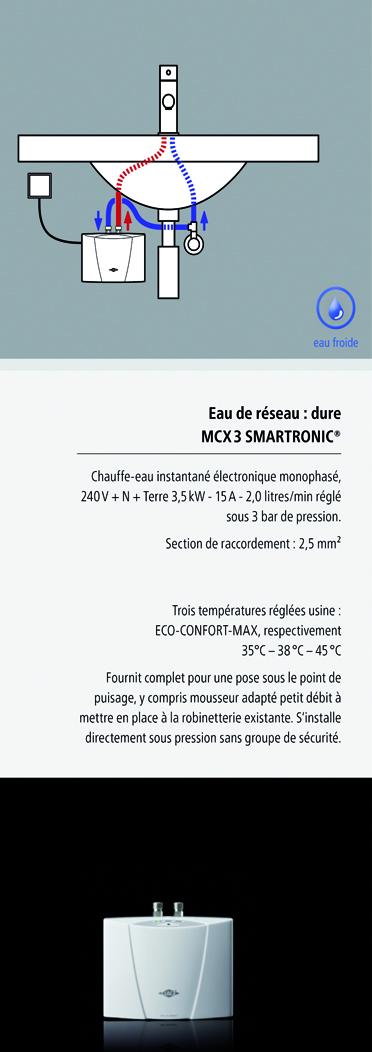 installation chauffe-eau instantané clage MCX3