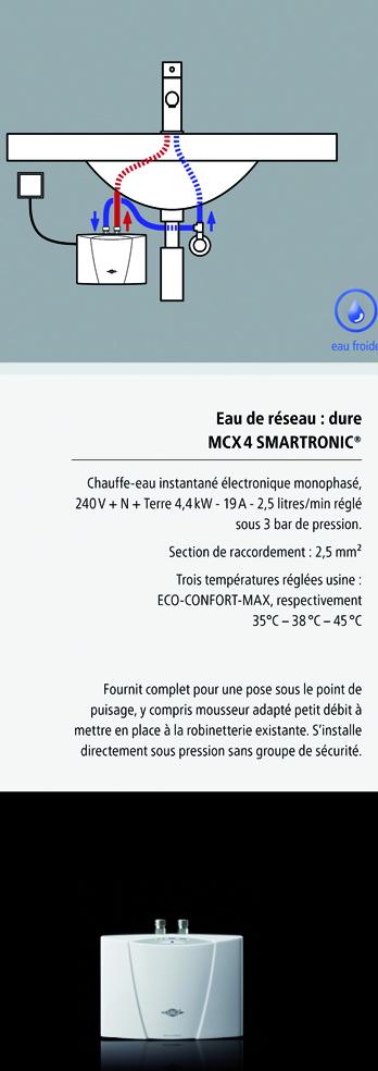 installation chauffe-eau instantané clage MCX4