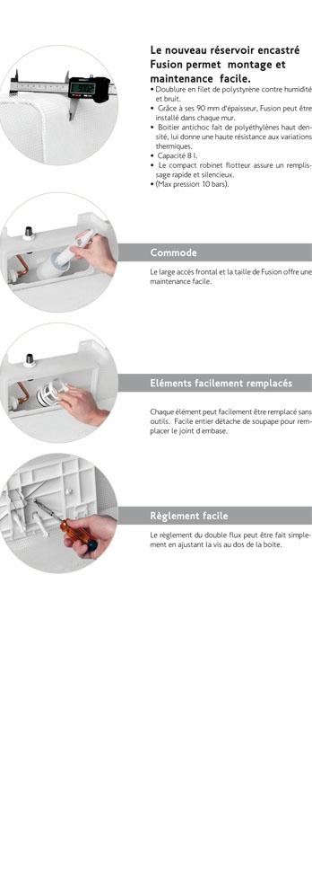 dimensions boutons Réservoir encastré