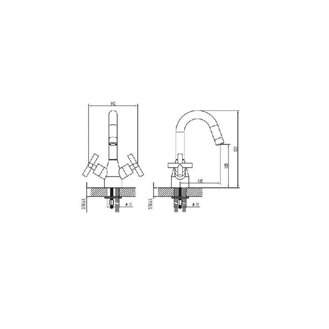 mitigeur lavabo T71907