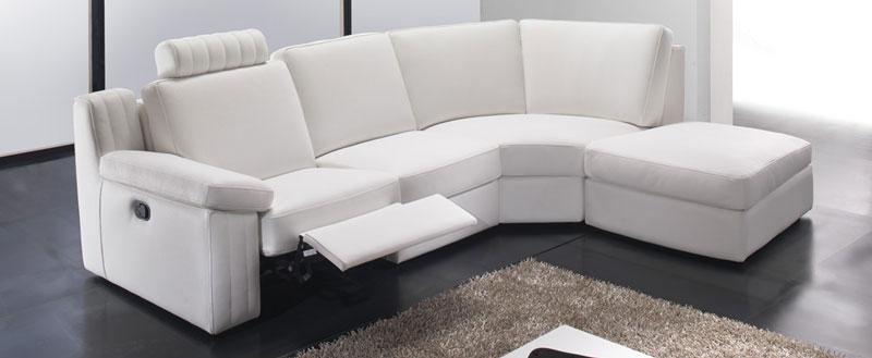 canapé relaxation, canapé relax, canapé relaxation cuir blanc