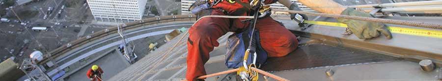 Corde de securite pour travail en hauteur