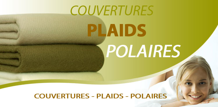 couvertures plaid polaires