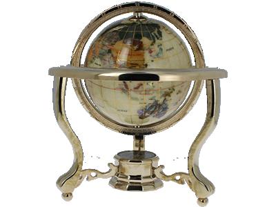 Globe terrestre pierre semi précieuses