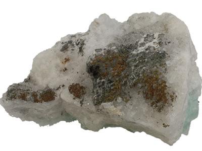 Pyrite sur fluorite
