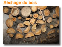 Fabrication stylos : séchage du bois