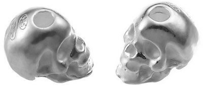 tete de mort ou skull en argent 925 - aromasud
