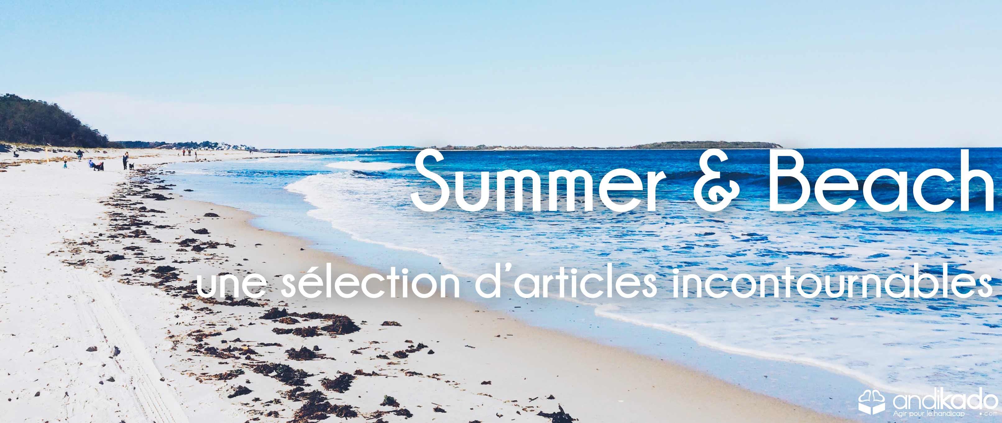 summer beach andikado été vacances congés plage soleil handicap handicapés agefiph fifph doeth