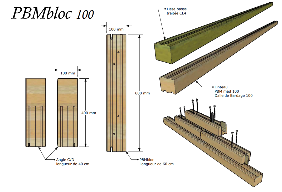 bloc bois 100